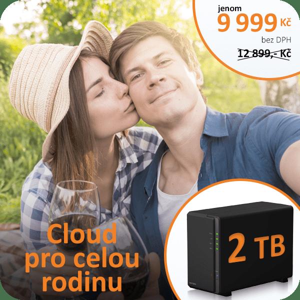 Datové úložiště, domácí úložiště, vlastní cloud, domácí cloud s kapacitou 2TB